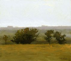 The Way to Starbuck, 6 x 7 inches, oil on panel. Marc Bohne