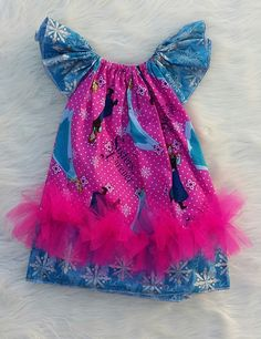 Frozen Basic Flutter Dress SIZE 2, frozen dresses, elsa dresses, baby girl dresses,girls dresses,flutter dresses,handmade dresses by HopskotchKids2 on Etsy