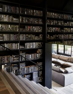 The Impossibly Chic Chyka Weekender! (The Design Files) Home Library Design, Home Building Design, Home Room Design, Dream Home Design, Modern House Design, Home Interior Design, Interior Architecture, Design Desk, Modern House Facades