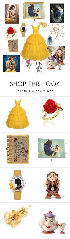 """""""Beauty and the Beast"""" by muluna ❤ liked on Polyvore featuring Disney Couture, Judith Leiber, Disney, Jennifer Behr and Lumière"""