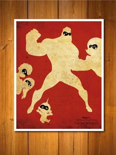 pixar posters by poster explosion. love the incredibles!
