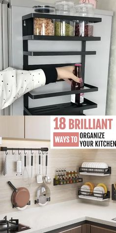 Small Kitchen Cabinets, Small Space Kitchen, Small Space Storage, Farmhouse Kitchen Cabinets, New Kitchen, Kitchen Decor, Kitchen Design, Kitchen Cabinets Stickers, Small Kitchen Renovations