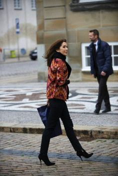 Crown Princess Mary attending the ladies Lunch during the Royal Hunt. Amalienborg Castle, Copehagen, 19.11.13.