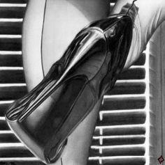 @Saintmarche #saintmarche #hotcouture #stockings #stilettos