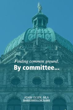 By committee... I am a strong advocate for more work by committee. It adds pressure on our little BC Green Caucus, as we sit on every one, but it is worth it because it is a much more positive working environment.