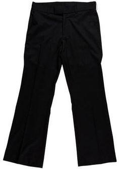 Yves Saint Laurent Wool Straight-Leg Pants Mens Dress Pants, Straight Leg Pants, Black Wool, Yves Saint Laurent, Stylish, Tops, Fashion, Moda, Fashion Styles