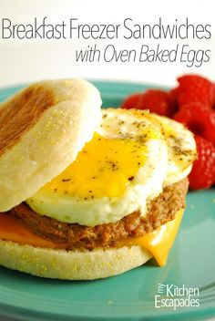 Breakfast Freezer Sandwiches - easy recipe to make ahead for back to school