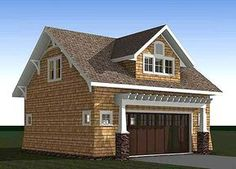 Architectural Designs Craftsman Carriage House Plan 18294BE has room for 2 cars on the main level and a vaulted living area above complete with kitchen, living room, bedroom and bath. Ready when you are. Where do YOU want to build?