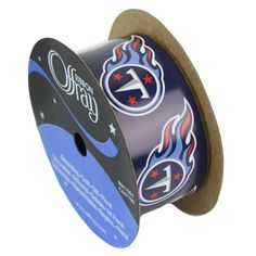 """Tennessee Titans ribbon 1 5/16"""" width- NFL RIBBON"""