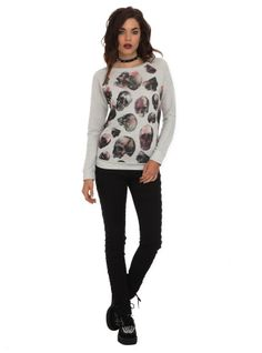 Skulls Pullover Sweater | Hot Topic
