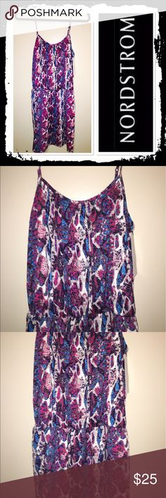 NWT Collective Concepts summer dress Size M brand new spaghetti strapped dress with elastic waist and colorful print Nordstrom Dresses