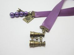 Your place to buy and sell all things handmade Purple Ribbon, Purple Satin, Purple Velvet, Deep Purple, Ribbon Bookmarks, Purple Glass, Velvet Ribbon, Souvenir Ideas, Great Gifts