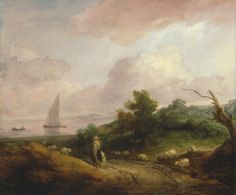 Coastal Landscape with a Shepherd and His Flock