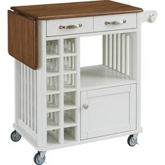 Perfect for adding extra prep space to your well-stocked kitchen, this versatile cart showcases a rolling design and ample storage.   Pr...