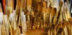 Artist materials and books in the Gallery Shop