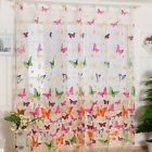 Hot!Butterfly Print Sheer Window Curtains For Living Room Bedroom Girl 200X100CM