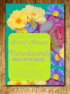 Bridal Shower Invitations  Wedding by Creativeintricacies on Etsy