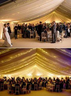 Winter marquee wedding Winter marquee wedding with fairy light canopy Marquee Wedding Receptions, Wedding Reception Lighting, Tent Wedding, Wedding Tips, On Your Wedding Day, Dream Wedding, Outdoor Wedding Canopy, Wedding Favors, Canopy Lights
