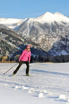 This is my dream every morning after a cup of coffee. What a way to start the day! Cross-country skiing is one of the best low-impact, total-body workouts.