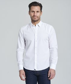 UNTUCKit Las Cases - Wrinkle Free - White