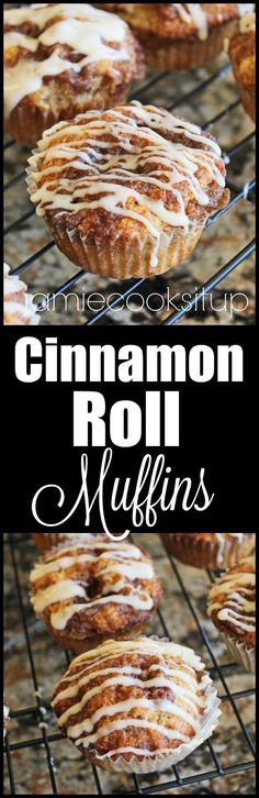 Cinnamon Roll Muffins from Jamie Cooks It Up!!