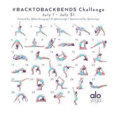 #backtobackbends July Yoga Challenge