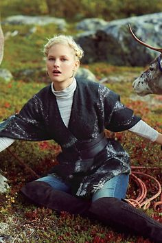 Anthropologie Catalog: December 2014 Lookbook: Fringed Plaid Poncho