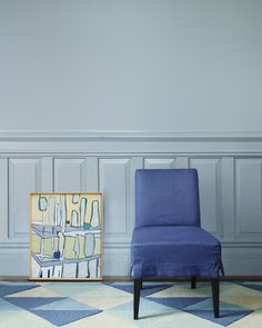 Blue Hues: Pyramid Rug and Jackson Side Chair in Pacific Blue. #serenaandlily