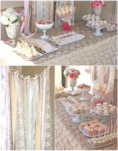 Una preciosa mesa de dulces para una fiesta comunión, una boda, un baby shower, una despedida elegante... / A lovely sweet table for a wedding, a baby shower, a first communion party, a bridal shower...