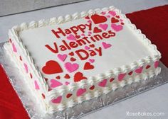 Happy Valentine's Day: A Simple Valentines Sheet Cake