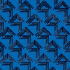 "V Step in cobalt, 69431 in Blog ""Miles Redd 13 Best Fabrics for Schumacher Sing with Red and Blue Rugs"""