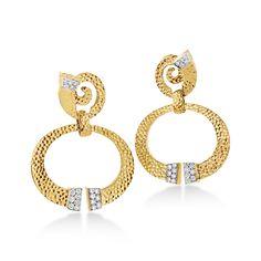 Diamond Nail Hoop Earrings by David Webb