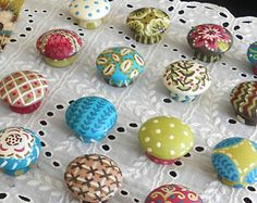 Hand Painted Knobs, (1) Painted Drawer, Cabinet Knobs ...