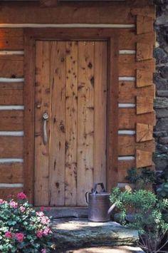 rustic cabin door