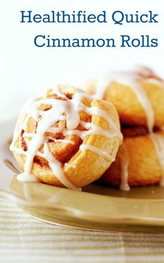 30-Minute Healthified Quick Cinnamon Rolls (32% fewer calories • 50% less saturated fat than an original recipe)