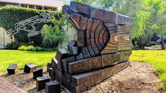 Wooden sculpture ©Photo by Sasha James Dion #wood #sculpture #curtinuniversity