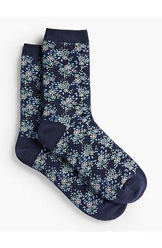Allover Floral Trouser Socks - Talbots