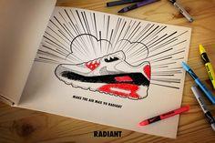 Sketch Air max 90 - Matt Stevens x Nike #AIRMAX Series