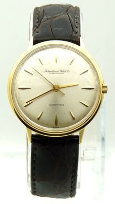 ee862dca308 Vintage IWC Schaffhausen Gold Automatic Dress Watch