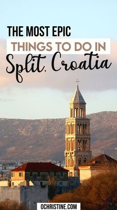The Most Epic Things to do in Split Croatia. Our 3 Days in Split Croatia itinerary to see the best the city has to offer. The most epic things to do in Split when you only have a long weekend. Find out how we suggest spending 3 fabulous days in Split, Croatia! | What to do in Split | The best things to do in Split | Croatia itinerary | #croatia #split Croatia Itinerary, Croatia Travel, Morning Massage, Stuff To Do, Things To Do, Top 10 Restaurants, Detox Breakfast, Split Croatia, Spa Services