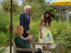 Tahani Al-Jamil's Yellow Floral Dress on The Good Place