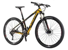 SAVADECK DECK300 Carbon Fiber Mountain Bike 26/27.5/29 Complete Hard Tail MTB Bicycle 30 Speed SHIMANO M610 DEORE Group Set  Yellow29x17 -- To view further for this item, visit the image link. (This is an affiliate link) #PopularTrekBikes Best Mountain Bikes, Mountain Biking, Off Road Cycling, Cycling Bikes, Carbon Fiber Mountain Bike, Hardtail Mountain Bike, Trek Bikes, Mtb Bicycle, Road Bikes