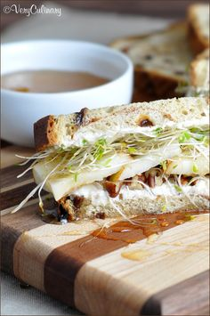 Crisp pears, sweet honey, and nutty pecans come together is this easy summer vegetarian sandwich. Full of nutrition and great taste!
