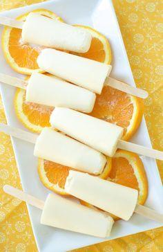 homemade orange creamsicles: 1 cup orange juice 1 cup coconut milk 3 tsp honey 1/4 tsp orange extract 1/2 tsp vanilla extract.