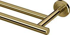 brass double towel bar