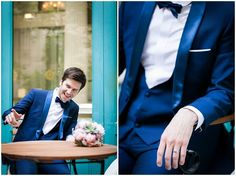 Blue grooms suit inspiration