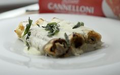 Cannelloni Filled with Chicken, Sweet Potato and Sage