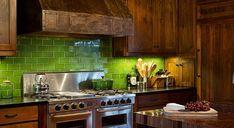 Subway Tile Kitchen Kitchen Backsplash And Emerald Green On Pinterest