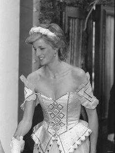 Princess Diana wearing an actual princess gown! ✨