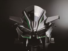 2015_Kawasaki_Ninja H2R_2.med Kawasaki Heavy Industries Just like the PR speak from the teasers, Kawasaki used multiple divisions inside the Kawasaki Heavy Industries, Ltd. (KHI) to produce the bike, which is why the Kawasaki River Mark is proudly displayed on the front.